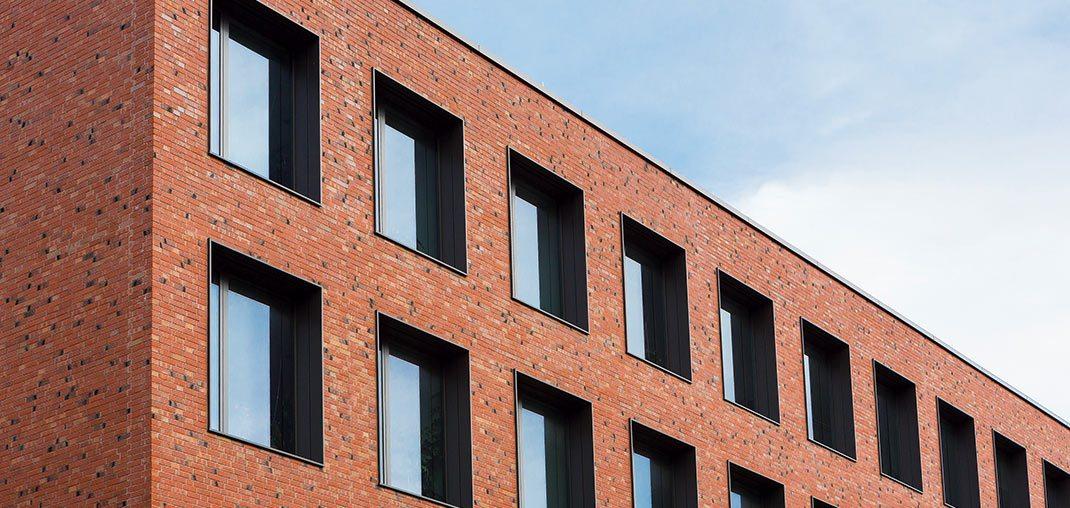 Neubau Rechenzentrum Detailansicht erweiterter Rohbau