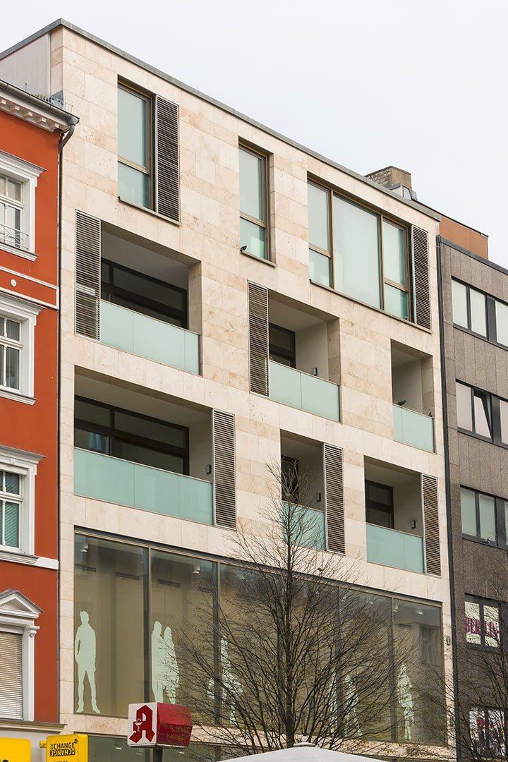 Wohn- und Geschäftshaus Detailansicht